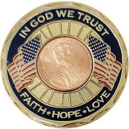 In God We Trust Commemorative Gold-Tone Coin