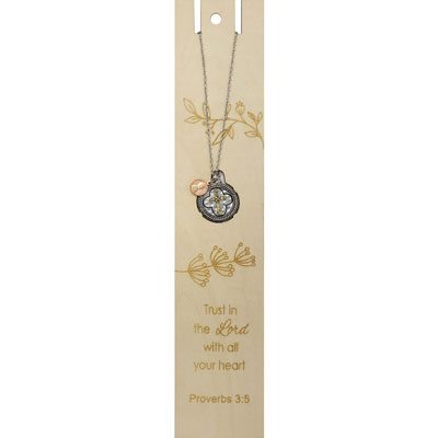 Trust in the Lord Bookmark with Cross Necklace