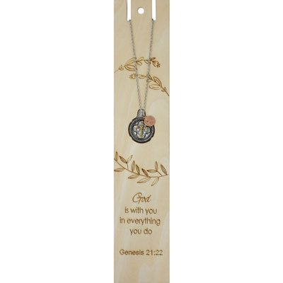 God is With You Bookmark with Cross Necklace
