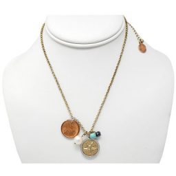 Starfish Gold-tone Penny Necklace