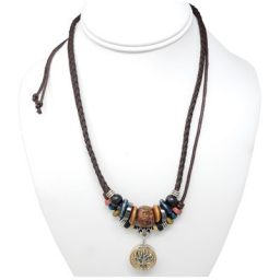 Tree of Life Multi-Beaded Rope SNAP Necklace