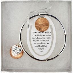 Mother's Prayer Silver-Tone Bracelet with Bookmark