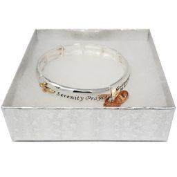 Serenity Prayer Silver-Tone Bracelet