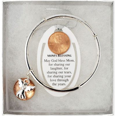 Mom's Blessing Silver-Tone Bracelet with Bookmark
