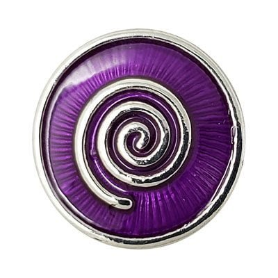 Purple Enameled Swirl Treasure Snap