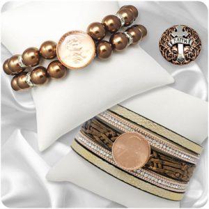 Bronze-Tone Snap Jewelry
