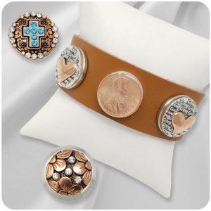 Copper-Tone Snap Jewelry