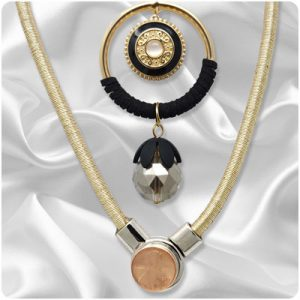 Gold-Tone Snap Necklaces