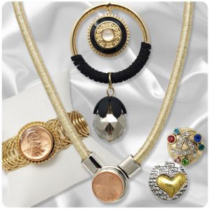 Gold-Tone Snap Jewelry