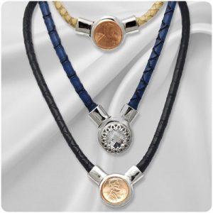 Faux Leather Snap Necklaces