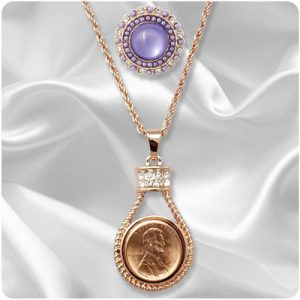 Rose Gold-Tone Snap Jewelry