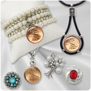 Silver-Tone Snap Jewelry