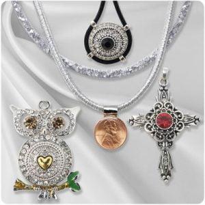 Silver-Tone Snap Necklaces