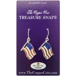 US Flag Earrings