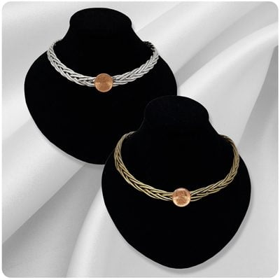 Braided Choker PENNY Necklace