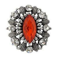 Regal Red Brooch Treasure Snap