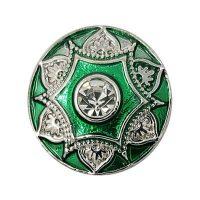 Crowned Metallic Green Enamel Treasure Snap